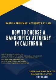 How to Choose a Bankruptcy attorney in California