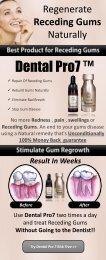 How to regrow receding gums?