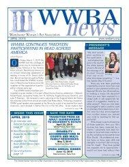 WWBA April 2019 Newsletter