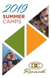 2019 Summer Camp Brochure