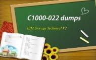 IBM Storage C1000-022 dumps