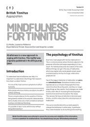 Mindfulness for tinnitus Ver 2.1