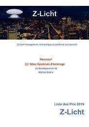 Z-Licht photo liste de prix Suisse 2019 (FR)