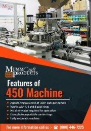 450 Machine Beer Canning Applicator