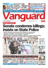 11042019 - INSECURITY: Senate condemns killings; insists on State Police