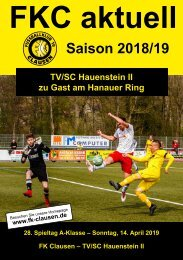 FKC Aktuell - 28. Spieltag - Saison 2018/2019