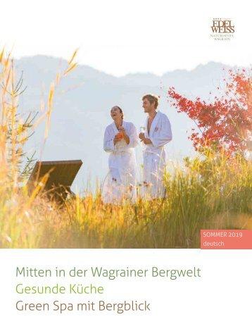 Spa Sommerprospekt Edelweiss Naturhotel Wagrain