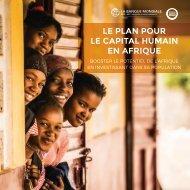 Plan de la Banque mondiale pour le capital humain en Afrique