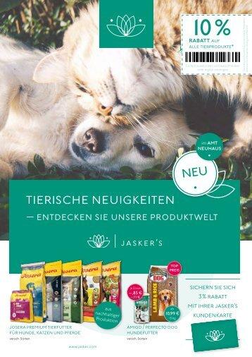 Tierische Neuigkeiten bei Jasker's