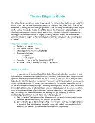 Theatre Etiquette Guide 2019