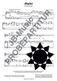 Akelei  (für Tenor-Solostimme/Klavier, für Männerchor TTBB und für Gemischten Chor SATB)