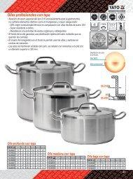 Catalogo de Ollas Profesionales Yato Gastro Carbone