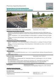 Planung Ingenieurbauwerk - Bechert + Partner