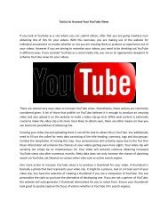 Tactics to Increase Your YouTube Views