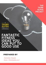 Fantastic Fitness Ideas You Can Put To Good Use
