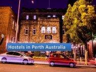 Best Backpacker hostel in Perth