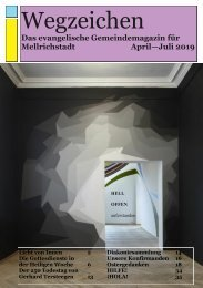 Wegzeichen April-Juli 2019