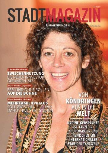 Stadt-Magazin, Ausgabe Emmendingen (April 2019)