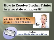 How to Resolve Brother Printer in error state windows 8?