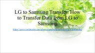 Top 4 Solutions on LG to Samsung Transfer
