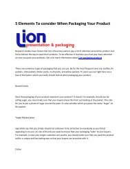 5 Lion packaging products
