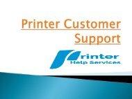 Printer Customer Support