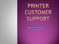 printer customer support