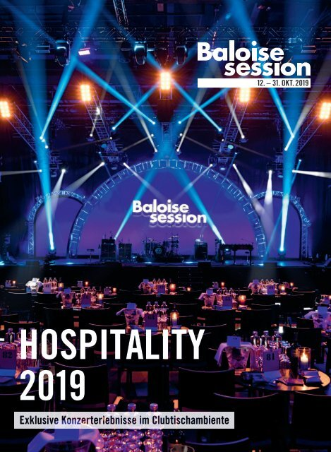 BALOISE SESSION 2019: Hospitality-Broschüre