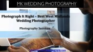 Photograph It Right – Best West Midlands Wedding Photographer