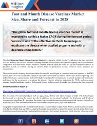Foot and Mouth Disease Vaccines Market Size, Share and Forecast to 2028