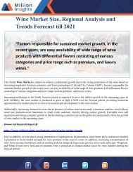 Wine Market Size, Regional Analysis and Trends Forecast till 2021