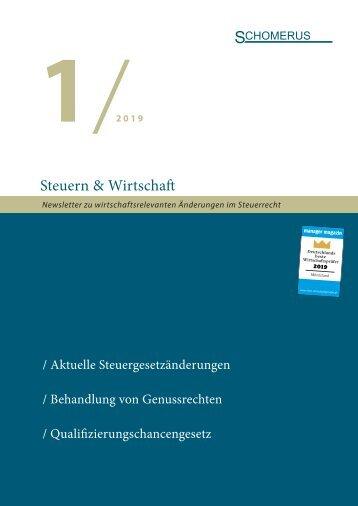 Steuern & Wirtschaft 1/19