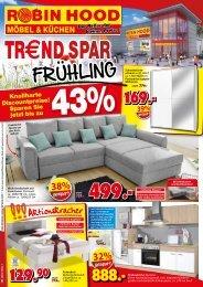 Trend-Spar-Frühling! Robin Hood Möbel + Küchen - 78166 Donaueschingen