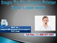 How to Fix Canon Printer Error Code B200