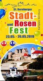 Programm Stadt- und Rosenfest Bernburg 2019
