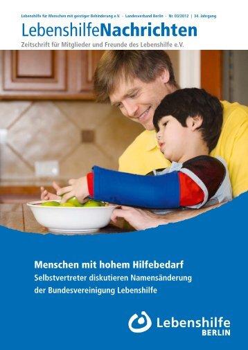 Mitgliederversammlung am 3. November 2012 - Lebenshilfe Berlin