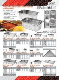 Catalogo Recipientes Gastronómicos Profesionales Yato Gastro Carbone