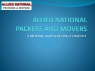 ALLIED NATIONAL PACKERS AND MOVERS