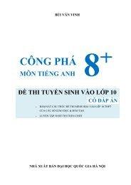 PREVIEW CÔNG PHÁ 8+ MÔN TIẾNG ANH ĐỀ THI TUYỂN SINH VÀO LỚP 10