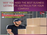 Why You Need the Best Business Listing Site Australia for Your Company