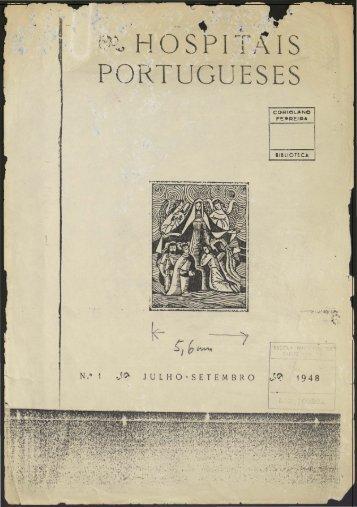 Hospitais Portugueses n.º1 julho-setembro 1948
