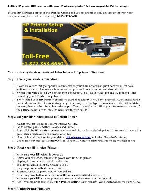 HP priunter setup | HP printer offline | HP wireless printer