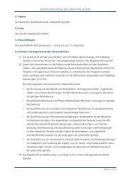 Gesellschaftsvertrag der Lebenshilfe gGmbH - Lebenshilfe Berlin