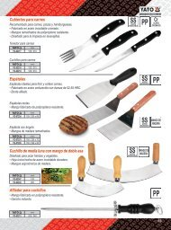 Catalogo de Cubiertos, Espatulas, Batidores y Cucharones Profesionales Yato Gastro Carbone