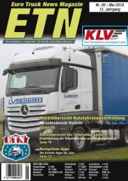 Euro Truck News Digital Nr. 05/2019
