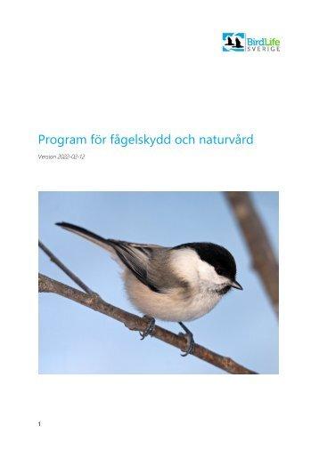 BirdLife Sveriges program för fågelskydd