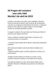 Pregón del Costalero 2019