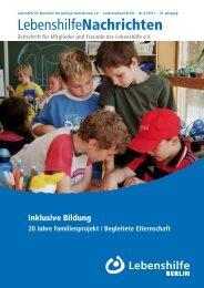 PDF Dokument Download - Ausgabe 3/2011 - Lebenshilfe Berlin