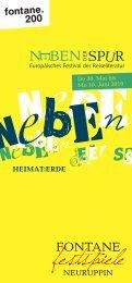 NEBEN DER SPUR - Europäisches Festival der Reiseliteratur 2019