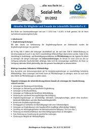 Sozial-Info 01/2012 Aktuelles für Mitglieder und Freunde der ...